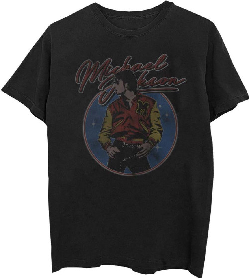 Michael Jackson Thriller Music Video Men's Black Vintage T-shirt