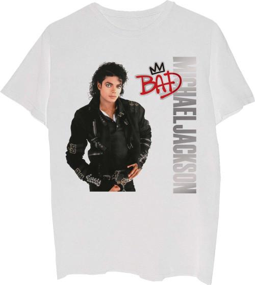 Michael Jackson Bad Album Cover Artwork Men's White T-shirt