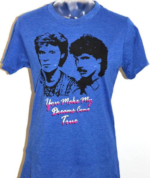 Hall & Oates T-shirt - Women's You Make My Dreams Come True Blue Vintage Tshirt