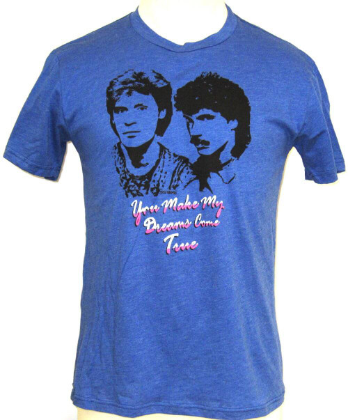 Hall & Oates You Make My Dreams Come True Song Title Men's Blue T-shirt