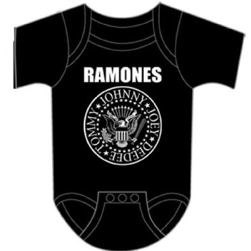 Ramones Infant Bodysuit - Presidential Seal Logo Baby Diaper Shirt | Black