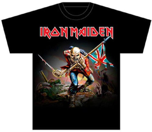 Iron Maiden The Trooper Song Single Album Cover Artwork Men's Black T-shirt