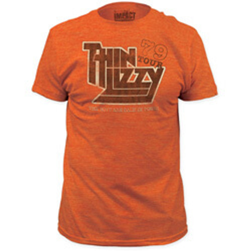 Thin Lizzy 1979 US Concert Tour Men's Vintage Orange T-shirt