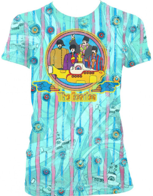 Beatles Yellow Submarine Vintage T-shirt  | Women's Light Blue
