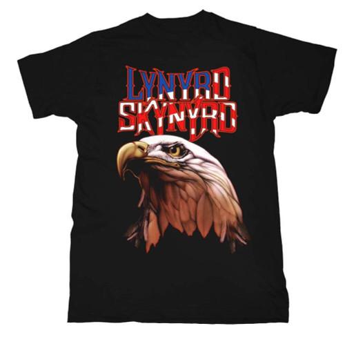 Lynyrd Skynyrd T-shirt - Logo with American Bald Eagle. Men's Black Shirt