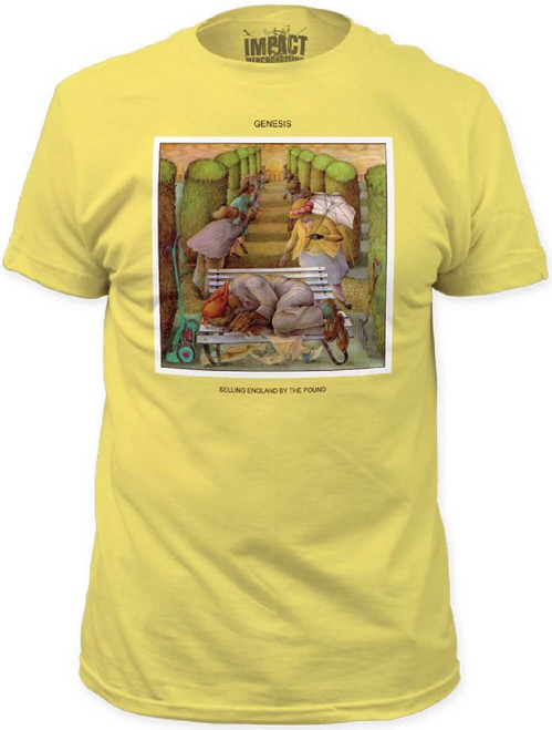 Genesis Selling England By the Pound Album Cover Art T-shirt | Men's Yellow