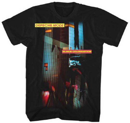 Depeche Mode Black Celebration Album Cover Artwork Men's Black T-shirt