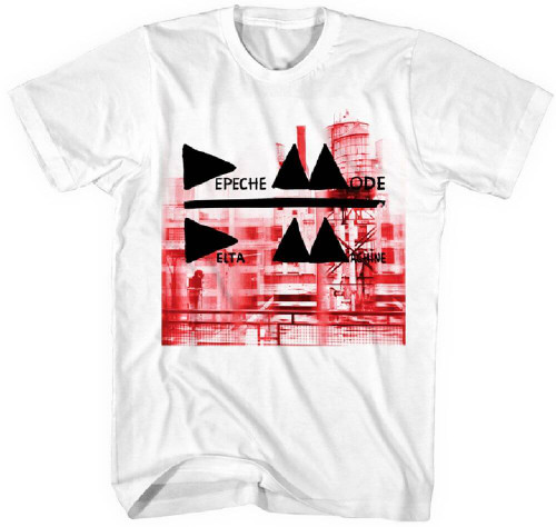 Depeche Mode Men's T-shirt - Delta Machine Album Cover Artwork | White Shirt