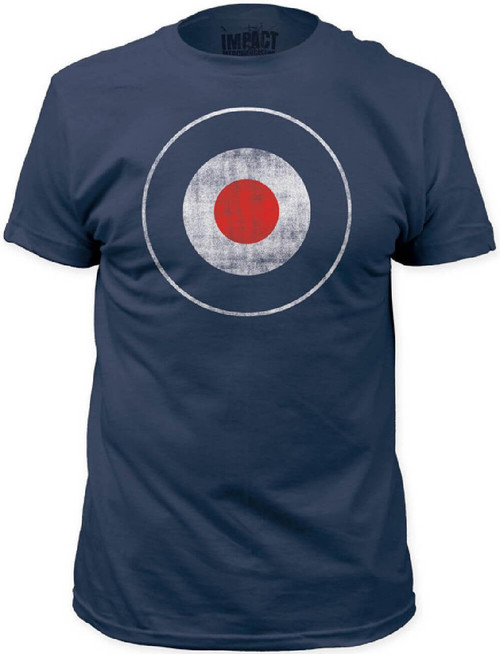 Bulls Eye Target Men's Vintage T-shirt | Blue
