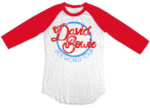 David Bowie Vintage Concert T-shirt - 1978 World Tour. Baseball Jersey