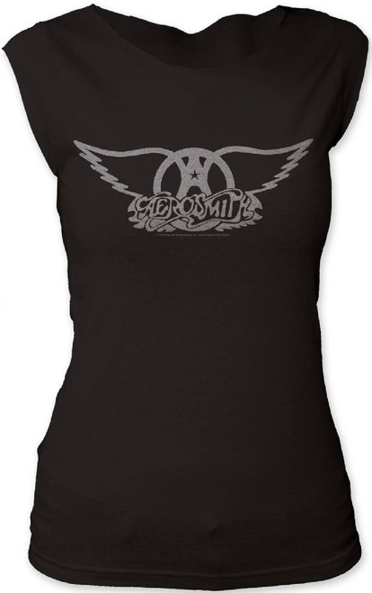 Aerosmith Logo Women's Black Sleeveless T-shirt