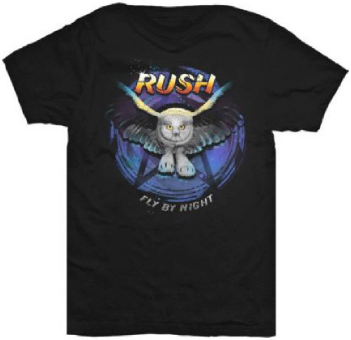 Rush Album T-shirt - Fly by Night Album Cover Artwork | Men's Black Shirt