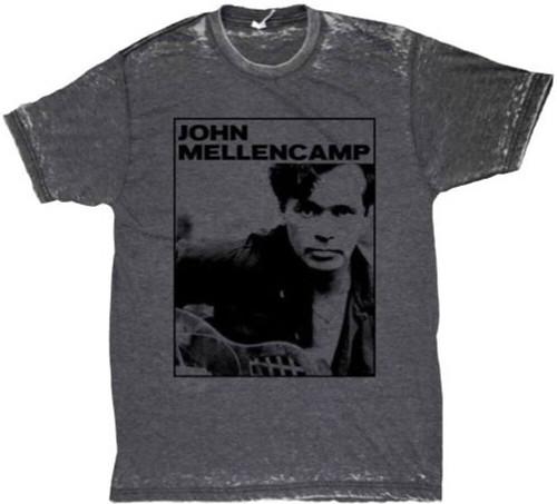 John Mellencamp Men's Vintage T-shirt - Classic Photograph | Gray