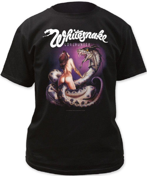 Whitesnake T-shirt - Whitesnake Lovehunter Album Cover Artwork | Men's Black Shirt