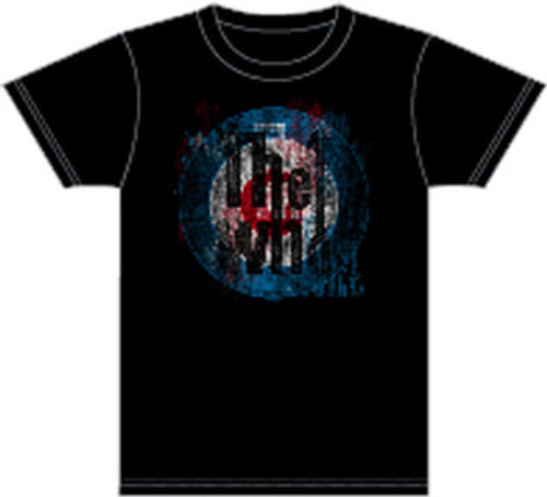 The Who Target Logo Men's Black Vintage T-shirt