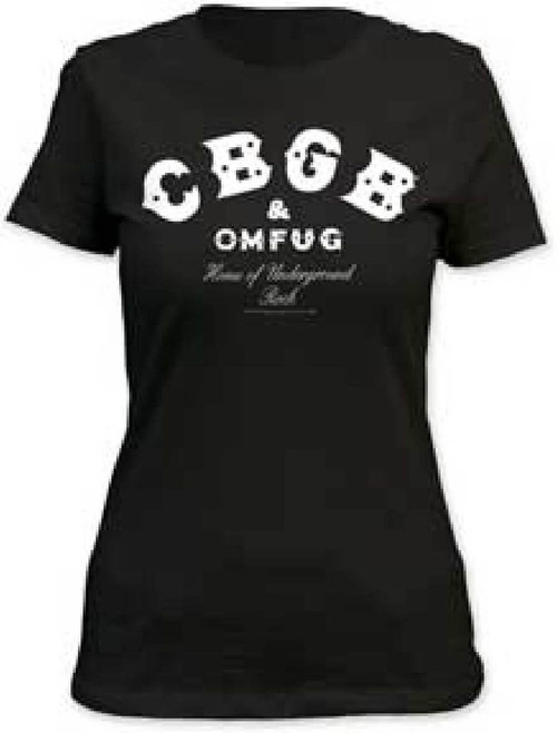 CBGB & Omfug Home of Underground Rock Logo Women's Black T-shirt