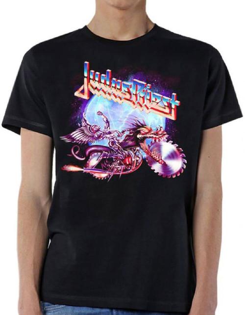 Judas Priest Painkiller Album Cover Artwork Men's Black T-shirt