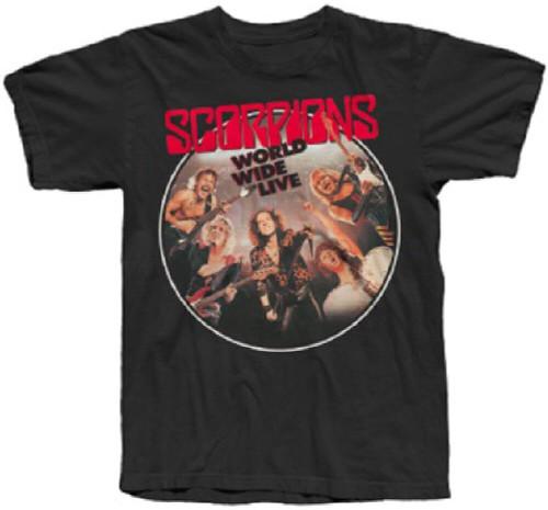 Scorpions Concert Album T-shirt - World Wide Live. Men's Black