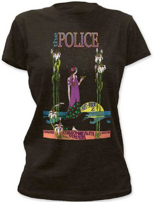 Police Vintage Concert T-shirt - Commonwealth Stadium, Edmonton, Alberta, Canada | Women's Black Shirt