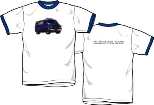 Beastie Boys T-shirt - Custom Van Logo with Aloha Mr. Hand | Men's White