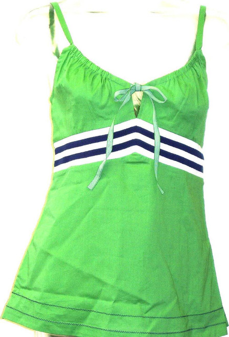 Esprit Women's T-shirt - Strappy Long Vintage Cami Top | Green Shirt
