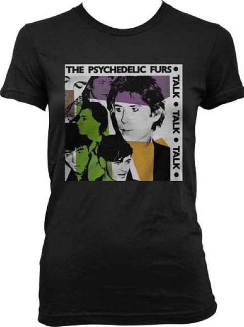The Psychedelic Furs Talk Talk Talk Album Cover Artwork Women's Black T-shirt
