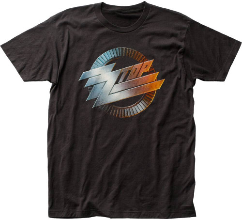 ZZ Top Logo from Recycler Album Cover Men's Black T-shirt