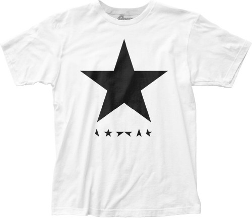 David Bowie T-shirt - David Bowie Blackstar Album Cover Artwork | Men's White Shirt