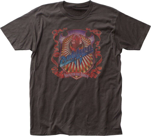 Dokken Back for the Attack Album Cover Artwork Men's Black Vintage T-shirt