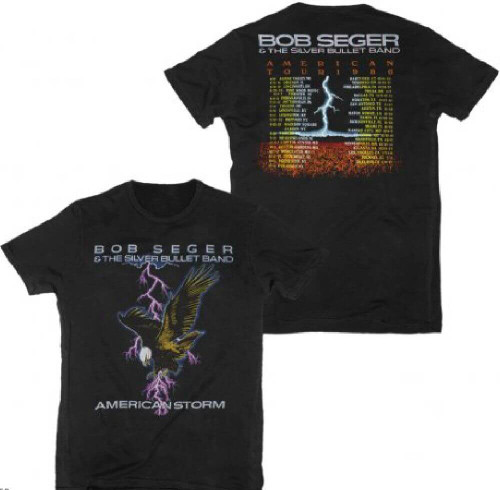 Bob Seger and the Silver Bullet Band American Storm Tour 1986 Men's Black T-shirt