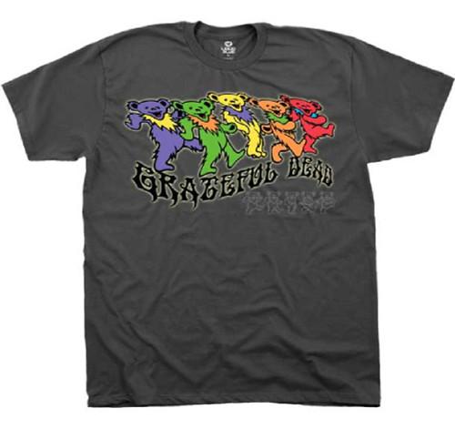 Grateful Dead T-shirt - Grateful Dead Dancing Teddy Bears Logo. Men's Gray Shirt