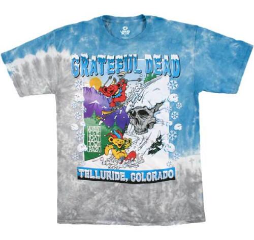 Grateful Dead Tie-Dye Concert T-shirt - Grateful Dead Town Park Telluride, Colorado August 15-16, 1987 | Men's Shirt