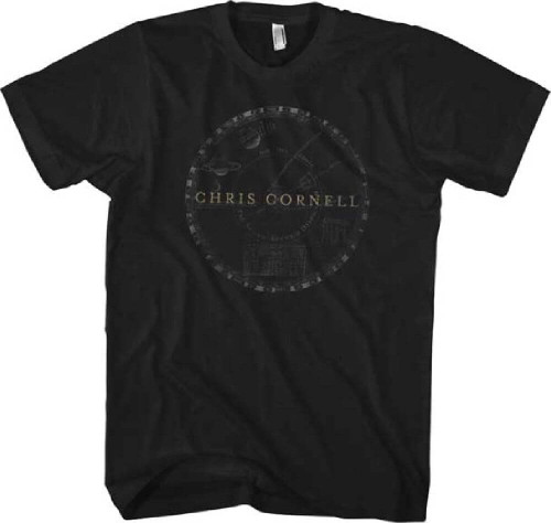 Chris Cornell Solar System Logo Men's Black T-shirt