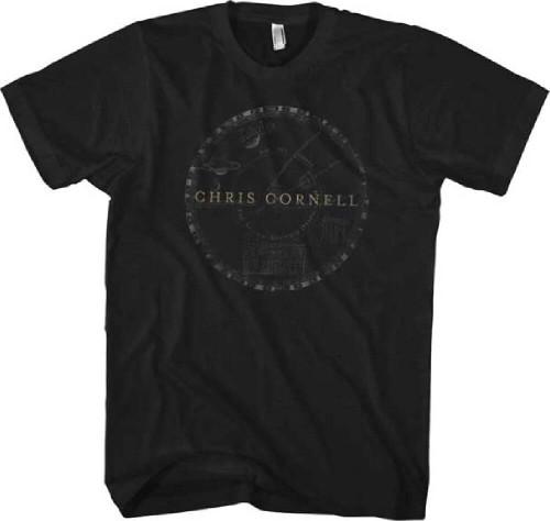 Chris Cornell T-shirt - Chris Cornell Solar System Logo. Men's Black Shirt