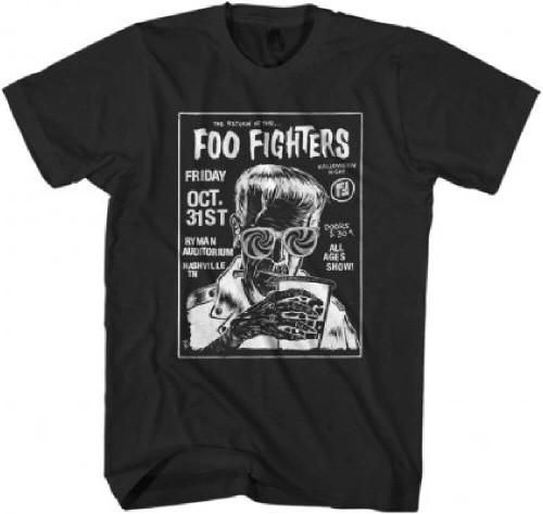 Foo Fighters Concert T-shirt - Ryman Aud Nashville, Tenn. Halloween 2014 | Men's Black Shirt