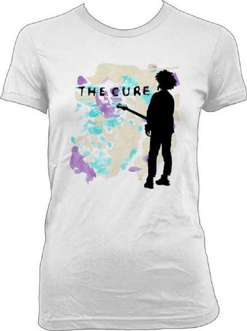 Cure Women's T-shirt - The Cure Boys Don't Cry Song Single Album Cover Artwork. White Shirt