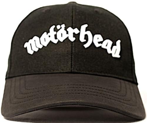Motorhead Baseball Hat - Motorhead Logo | Black Wool-Blend and Leather Cap