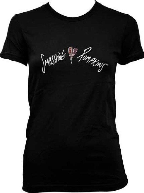Smashing Pumpkins Gish Album Cover Logo Women's Black T-shirt