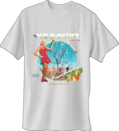 No Doubt Tragic Kingdom Album Cover Artwork Men's Gray T-shirt