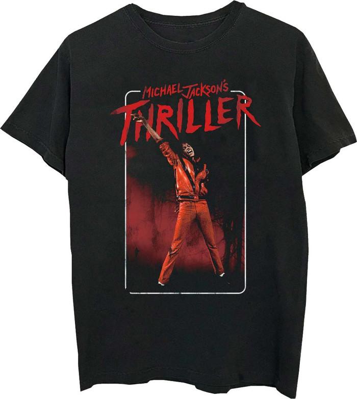 Michel Jackson Thriller Music Video Men's Black T-shirt
