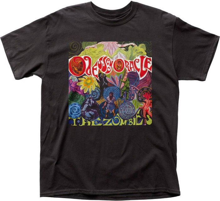The Zombies Odessey and Oracle Album Cover Artwork Men's Black T-shirt