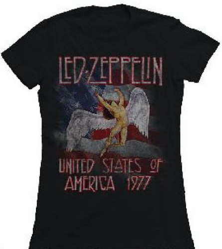 Led Zeppelin United States Of America 1977 Tour Women S