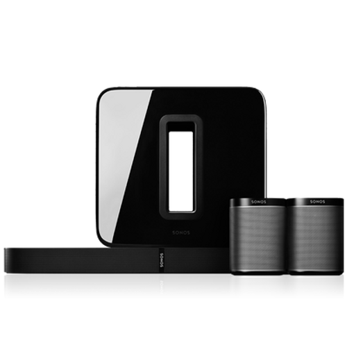 Sonos 5.1 Surround Sound Package with PLAYBASE and PLAY:1