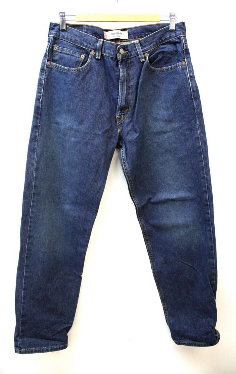 53027b666c2 LEVI STRAUSS & CO 550 Men's Blue Relaxed Classic Vintage Denim Jeans ...