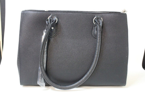 NEW MY BEST FRIEND IS A BAG Ladies Black Faux Leather Jennifer Tote Laptop  Bag f4ffa34abd