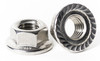 Stainless Metric Serrated Flange Lock Nuts