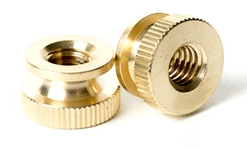 BRASS Knurled Nut | The Nutty Company, Inc.