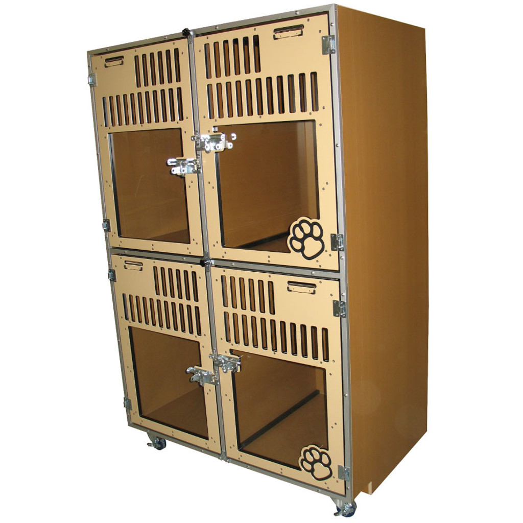 Gator Kennels Double-stack cage-bank.