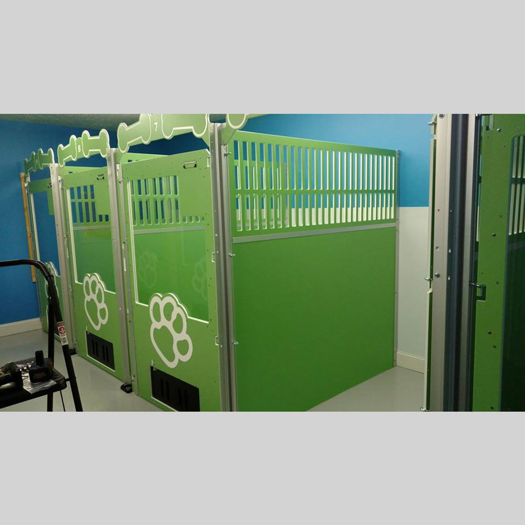 Large kennel-suites.