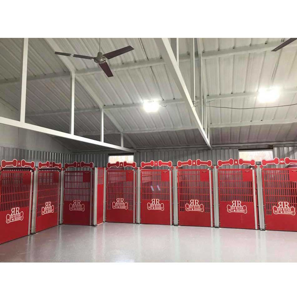 Red River Pet Resort Dog Kennels.